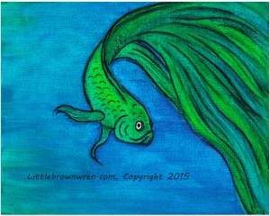 Green Fish, watermark