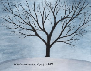 Tree- Winter, watermark
