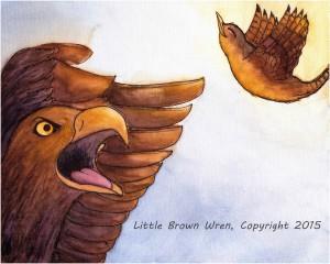 Wren and eagle watermark
